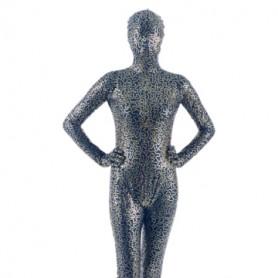 Quality Black Golden PVC Unisex Morph Suit Zentai