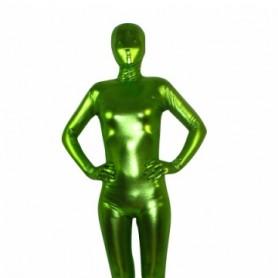 Spring Green Shiny Metallic Unisex Morph Suit Zentai Suit