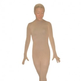 Flesh Color Unisex Nylon Morph Suit Zentai Suit