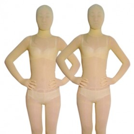 Superior Light Yellow Velvet Unisex Morph Suit Zentai Suit