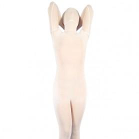 White Velour Unisex  Morph Suit Zentai Suit