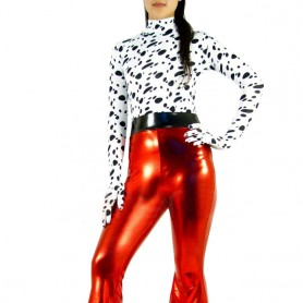 Lycra Spandex Black Dots Fashion Shirt