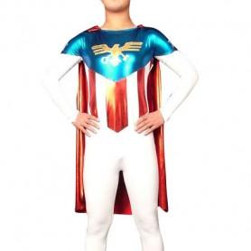 Lycra Shiny Metallic American Super Hero Costume