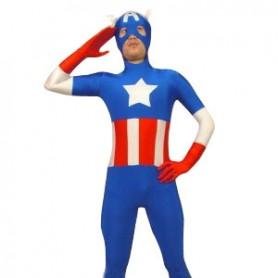 Blue Lycra Super Hero Costume
