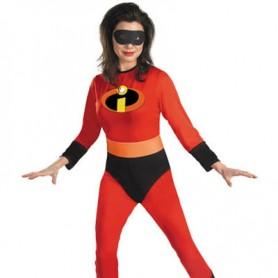 Red Elastigirl Helen Parr Lycra Super Hero Costume