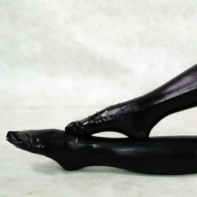 ZENTAI Black Shiny Metallic Stockings
