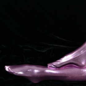 ZENTAI Pink Shiny Metallic Stockings