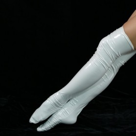 ZENTAI White PVC Stockings