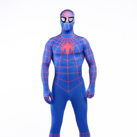 Blue Spiderman Super Hero Halloween Full Body Spandex Holiday Unisex Lycra Morph Zentai Suit