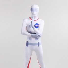 Halloween Nasa Astronaut Unisex Full Body Spandex Holiday Unisex Cosplay Zentai Suit