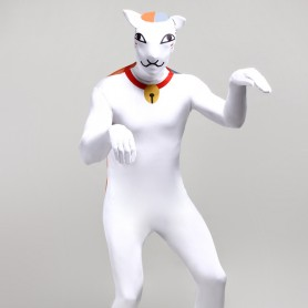 White Animal Monster Cartoon Full Body Halloween Spandex Holiday Unisex Cosplay Zentai Suit