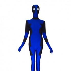 Blue Deadpool-deadpool Lycra Spandex Zentai Suit