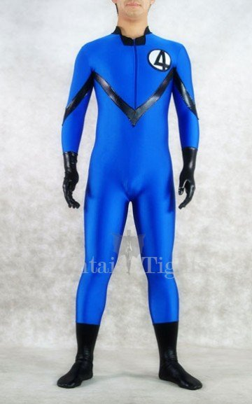 Blue Fantastic Four Spandex Men Costume