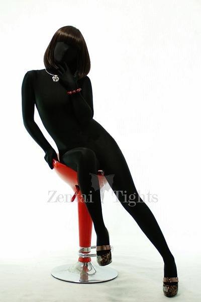 Black Lycra Spandex Unisex Morph Suit Zentai Suit