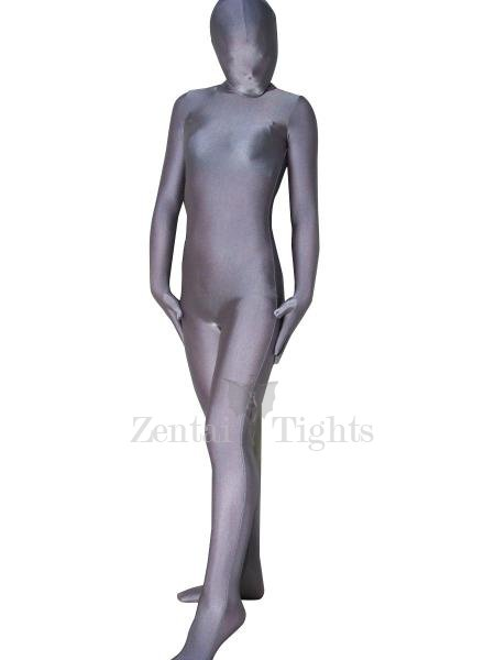 Top Unicolor Full Body Morph Suit Zentai Tights Silver Grey Lycra Spandex Unisex Morph Suit Zentai Suit