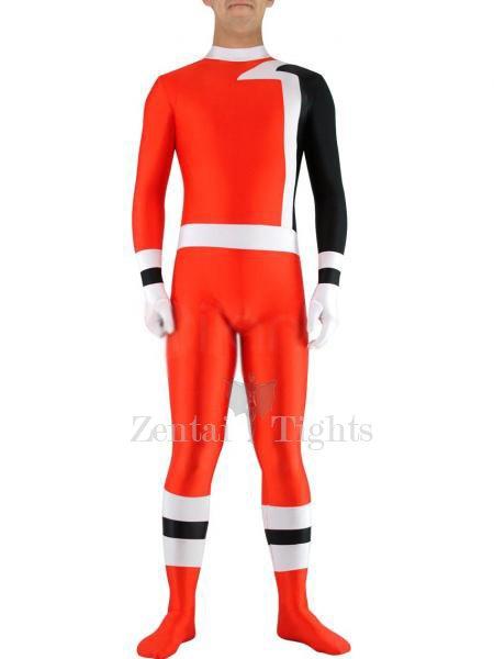 Red with Black Lycra Spandex Unisex Morph Suit Zentai Suit