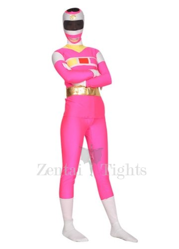 Shiny Metallic Lycra Super Hero Morph Suit Zentai Suit