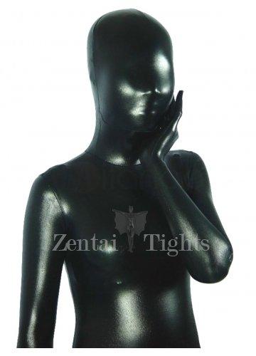 Black Shiny Metallic Unisex Morph Suit Zentai Suit