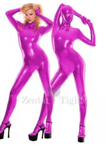 Purple Shiny Metallic Unisex Catsuit