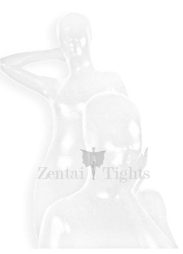 Suitable White Shiny Metallic Unisex Morph Suit Zentai Suit