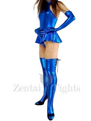 Cheap Blue Shiny Metallic Sexy Dress