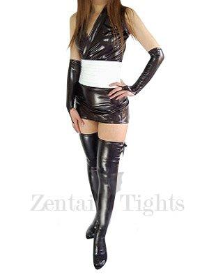Cheap Cool Black Shiny Metallic Sexy Dress