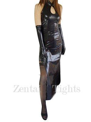 Classic Black Shiny Metallic Sexy Dress