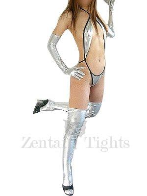 Classic Perfect Silver Shiny Metallic Sexy Costume