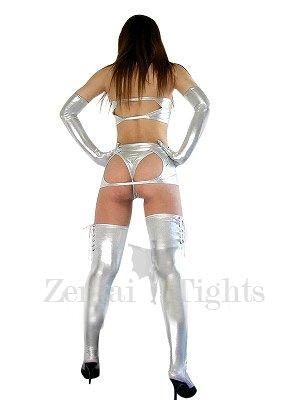 Classic Silver Shiny Metallic Sexy Dress