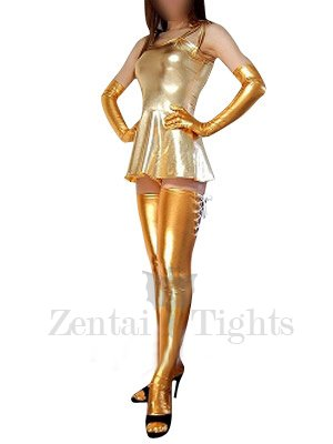 Classic Top Gold Shiny Metallic Sexy Dress