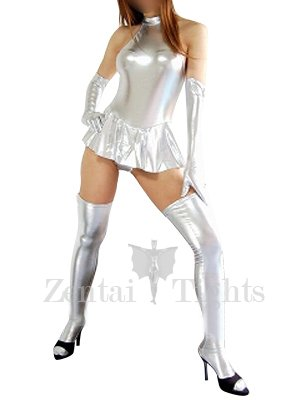 Suitable Silver Shiny Metallic Sexy Dress