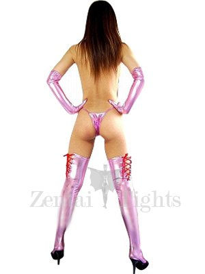 Top Pink Shiny Metallic Sexy Costume