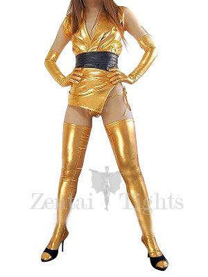 Cheap Classic Gold Shiny Metallic Sexy Costume