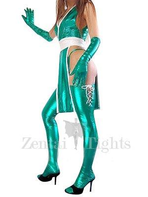 Cheap Green Shiny Metallic Sexy Costume