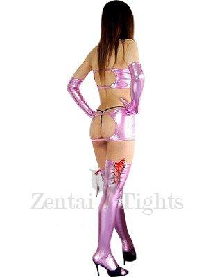 Cheap Pink Shiny Metallic Sexy Dress