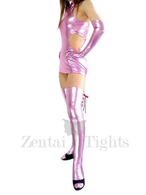 Cheap Pink Shiny Metallic Sexy Dress