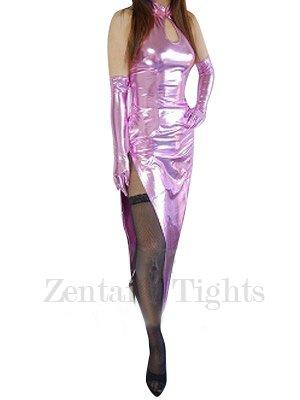 Classic Pink Shiny Metallic Sexy Dress
