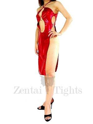 Cool Red Shiny Metallic Sexy Dress