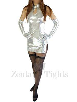 Cool Silver Shiny Metallic Sexy Dress