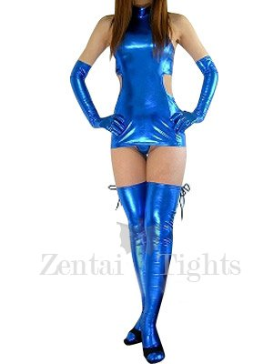 Cool Suitable Blue Shiny Metallic Sexy Dress