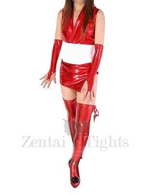 Perfect Red Shiny Metallic Sexy Costume