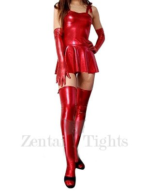 Perfect Red Shiny Metallic Sexy Dress