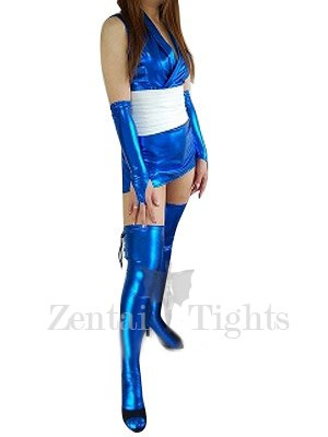 Popular Suitable Blue Shiny Metallic Sexy Dress