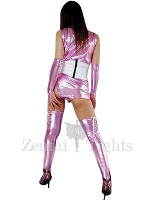 Purple Shiny Metallic Sexy Costume