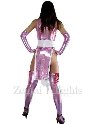 Purple Shiny Metallic Sexy Dress