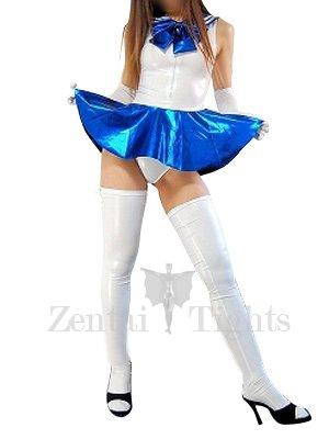Suitable Shiny Metallic Bowknot Mini Skirt Suit