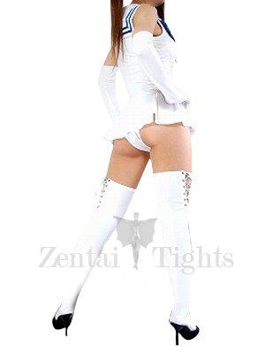 Suitable White Shiny Metallic Bowknot Mini Skirt Suit