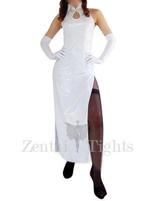 Suitable White Shiny Metallic Sexy Dress