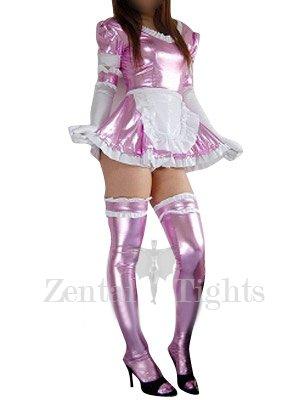 Top Purple Shiny Metallic Lace Trim Sexy Dress