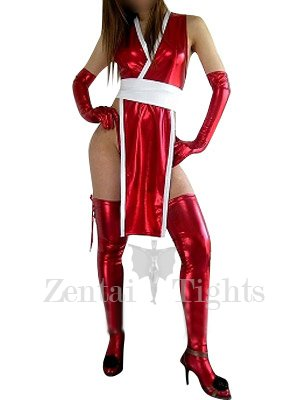 Unusual Red Shiny Metallic Sexy Dress
